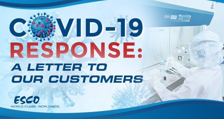 COVID-19 Response: A letter to our customers