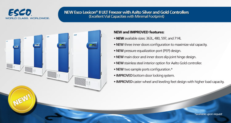 New Lexicon® II ULT Freezer with Aalto Silver and Gold Controllers