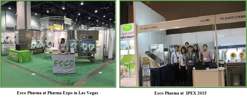 Esco Pharma exhibited concurrently in Pharma Expo Las Vegas and IPEX Packaging Expo in Jakarta.