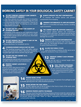 Esco Working Safely In Your Biological Safety Cabinet Poster